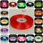 32 Metres Reel of 12mm Full Reel Double Sided Roll Faced Satin Ribbon Crafts/NEW