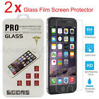 2PCS 9H REAL TEMPERED GLASS FILM SCREEN PROTECTOR FOR APPLE IPHONE 5S 6S 7