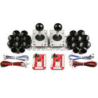 Arcade DIY Kit USB Controll, Joystick, 20 Push Buttons for PC MAME& Raspberry Pi