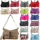 NEW UNISEX WATERPROOF LIGHTWEIGHT PLAIN PRINTED TRAVEL HOLIDAY CROSSBODY BAG