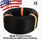 ALL SIZES 1 FT - 100 FT Split Wire Loom Polyethylene Tubing Marine Conduit LOT