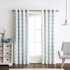2 Pack: Thermal Lattice Foamback Grommet Curtains - Assorted Colors