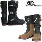 Wulfsport Trials Leather Motocross Racing Boots Motorbike Motorcycle Boots Wulf