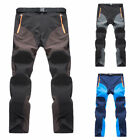 Outdoor Mens Soft shell Camping Tactical Cargo Pants Combat Hiking Trousers 2017