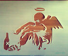 Banksy Fallen Angel reusable STENCIL for home decoration / wall interior decor