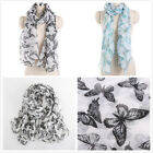 "Beautiful Butterfly Print Soft Women's Long Scarves Wraps Shawl Scarf 75""*35"""