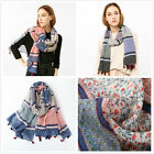 "Floral Stripe Print Colorful Soft Women's Long Scarves Wraps Shawl Scarf 71""*39"""
