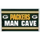 """NFL Geen Bay Packers """"Man Cave"""" Banner Flag - 3X5 FT"""