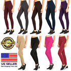 Nwt Women Extra Wide Band High Waist Tummy Control Fleece Thick Warm Leggings