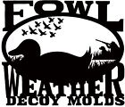 Duck Decoy Head Molds - Shoveler HeadDecoys - 36249