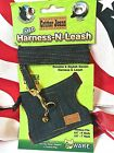 SMALL ANIMAL   'CRITTER JEANS' HARNESS-N-LEASH DENIM & BELL!