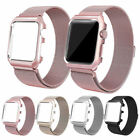 Milanese Stainless Steel Watch Band Strap+Cover Case For Apple Watch series 2/1