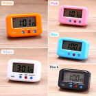 LCD Digital Time Alarm Clock Stop Watch Snooze With Night Backlight Desktop JS
