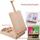 Durable Adjustable Artist Easel Painting Sketching Box Wood Color Beech 2 Type F