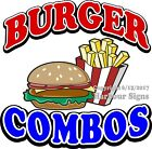 Burger Combo DECAL (CHOOSE YOUR SIZE) Food Truck Sign Restaurant Concession