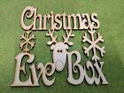 010909 MDF Laser Cut - Pack of 16 Christmas eve box Topper with Reindeer 190x140