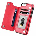 Magnetic Leather Wallet Case Card Slot Shockproof Flip Cover for iPhone 7 6 Plus фото