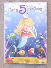 birthday card~age five  birthday cards~quality cards~free p/packing~