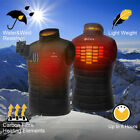 ORORO Mens Heated Jacket Sleeveless Vest Full Zipper Outdoor