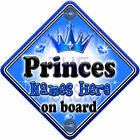 NEW ~ GEM JEWEL ~ PRINCES ~ Personalised Baby on Board Car Window Sign