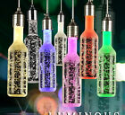 Creative Bubble Crystal Wine Bottle LED Bar Party Color Decorative Chandelier