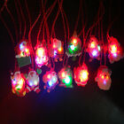 1Pc LED Flashing Santa Clause Pendant Necklace Christams New Year Gift Random