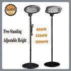 Home Outdoor Patio Free Standing 2KW Electric Space Heater Halogen Tube Quartz
