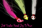 Jigging World Bucktail Snake Head Jig FREE SHIPPING in the US