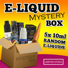 50ML E-LIQUID MULTIPACK | 5X RANDOM 10ML | NASTY JUICE | ZAP | ELEMENT | CHEAP