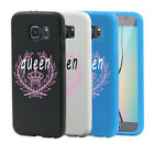 Queen Crown Print Full Phone Case Cover for iPhone 5 6 6S Plus Samsung S6 Sweet