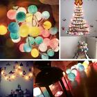 Cotton Ball 2m 20 LED Colorful Battery Power String Light Party Decoration Room