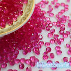 4.5mm Fuchsia Acrylic Diamond Confetti Wedding Party Crystals Table Scatters