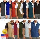 Mens Soft Polar Fleece Sleeveless Vest Jacket Warm Winter Coat Full Zipper ZipUp