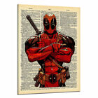 Art - Newspaper Style Deadpool Canvas Print Wall Art Oil Painting Pictures Home Decor