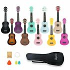 21 inch soprano ukulele apelila acoustic mini guitar music instrument gig bag