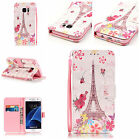 Magnetic 3D Patterned Leather Wallet Stand Case Cover For Samsung S5 S6 S7 Edge