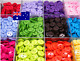 100 Round Candy Colorful Scrapbooking Embellishment Resin Sewing 2 Holes Buttons