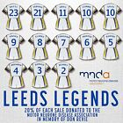 LEEDS LEGENDS - ENAMEL PIN BADGES - 20% Donated to Motor Neurone Disease Assoc'