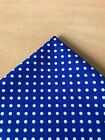 'NEW' BluePolka Dot with SMALL White Spots Dog Pet Bandana Scarf  XS S M L XL
