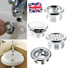 Bathroom Sink Overflow Trim Ring Chrome Hole Cover Cap Round Insert