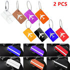 2X Aluminium Metal Travel Luggage Baggage Suitcase ID Address Tags Label Holder