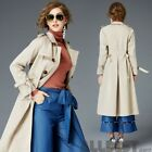 Womens Fashion Winter Autumn Slim Double Breasted Trench Overcoat Long Outwear