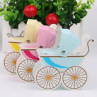 10Pcs Laser Cut Pram Candy Boxes Wedding Favor Baby Shower Party Gift Carriage