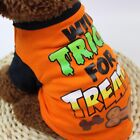 Halloween Cool Funny Pet Printing T-shirt Puppy Make Up Dress Cotton Costume