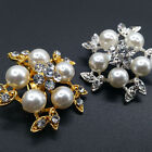 Wedding/Bridal Stylish Brooch Pin Clear Rhinestone Crystal Imitation Pearl
