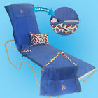 Beach Lounge Chair Cover converts to tote bag includes pillow and pat dry towel