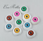 8 Pieces 20mm Large Round Eyeball Eye Spooky Resin Cabochons D01
