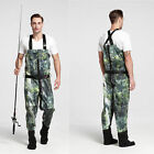 Mens Green Neoprene Camo Fishing Chest Waders W/ StockingFoot [ADW-800-J] - [RS]