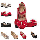 Girls Kids children wedding party evening Party shoes size 7-3