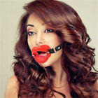 Open Mouth Gag O Ring Full Silicone Head Harness Toys For Couples Adult Game UK